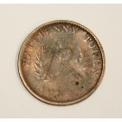 1832 counterfeit Thistle half 1/2 penny token Nova Scotia