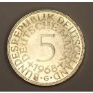 1968 G Germany 5 Deutsche Mark