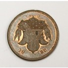 1863 Civil War token Staudingers 116 Broadway NY store card AU