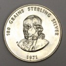 1971 Franklin Mint 100 grains sterling silver coin Treasury