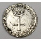 1689 four pence Great Britain 4d S3439 stop before G EF45