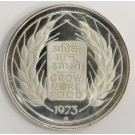 India  1973 10 Rupees silver coin F.A.O Grow More Food