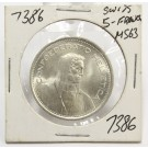 1969 B Switzerland 5 Franc silver coin  MS63+