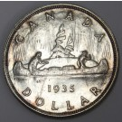 1935 Canada silver dollar  choice AU58