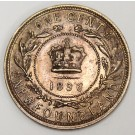 1896 Newfoundland large cent AU55