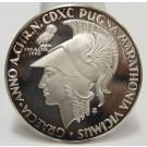 1960 Argenteus III Ducat silver coin MARATHONIA by Werner Graul