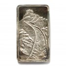 .999 1000 grains silver bar Great Wall of China s#43 Jacques Cartier Mint 1974