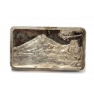 .999 1000 grains silver bar Fujiyama Volcano serial#43 Jacques Cartier Mint 1974