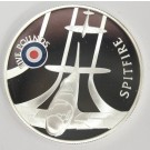 2008 St Helena & Ascension £5 coin .925 silver RAF SPITFIRE