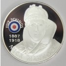 2008 St Helena & Ascension £5 coin .925 RAF MICK MANNOCK