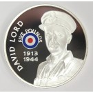 2008 St Helena & Ascension £5 coin .925 silver RAF DAVID LORD