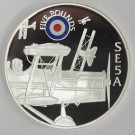 2008 St Helena & Ascension £5 coin .925 silver RAF SE5A