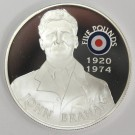 2008 St Helena & Ascension £5 coin .925 RAF JOHN BRAHAM