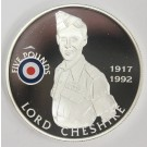 2008 St Helena & Ascension £5 coin .925 RAF LORD CHESHIRE