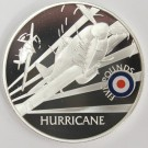 2008 St Helena & Ascension £5 coin .925 silver RAF HURRICANE