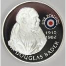 2008 St Helena Ascension £5 coin .925 RAF SIR DOUGLAS BADER
