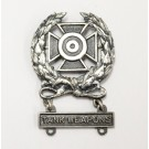Tank marksmanship U.S. military sterling silver badge