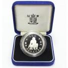 Macau 100 Patacas 1992 silver coin year of the Monkey