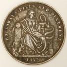 Australia 1857 1d penny Token