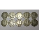 1791 Netherlands Holland 2 Stuivers silver 10-coins