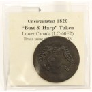 1820 Canada Bust and Harp token LC-60E2 AU55