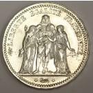 1873 K France 5 Francs silver coin MS63