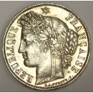 1851A France 5 Francs silver coin KM761.1 AU55