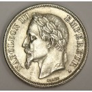 1868A France 2 Francs silver coin KM807.1 AU58
