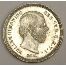 1863 Netherlands 5 Cents silver coin KM91 MS63