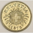 1872B Switzerland 5 Rappen MS63