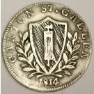 1814 K Switzerland 5 Bazen silver coin Canton ST Gallen VF