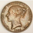 1844 Jersey 1/15 Shilling coin nice VF
