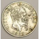 1863 TBN Italy 20 Centisimi KM13.2 nice EF