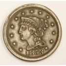 1853 Liberty Head large cent EF40
