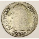 1806 Spain 2 Reales silver coin