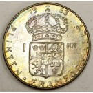 1963 Sweden 1 Kroner silver coin Choice Uncirculated MS63