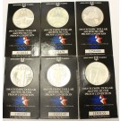 6x USA Proof Olympic Silver Dollars 4x1983 & 2x1984 .900 fine silver