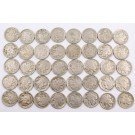 40x Buffalo Nickels 1936 PDS 40-coins G to VF+