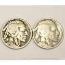 1914 and 1914s Buffalo Nickels 2-coins