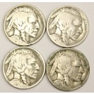 1917  1918  1919s  1920s Buffalo Nickels 4-coins