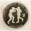 1988 Korea Seoul Olympics 2000 Won Boxing coin