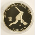 1988 Korea Seoul Olympics 1000 Won Tennis coin