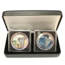 2x 2015 1-oz 999 silver coins AFRICAN ELEPHANT DAY & NIGHT