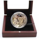 2015 1-oz 999 silver AFRICAN ELEPHANT High relief Cameo Proof