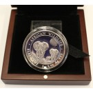 2014 1-oz 999 silver AFRICAN ELEPHANT High relief Cameo Proof