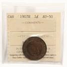 1907H Canada Large Cent ICCS AU50