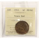 1912 Canada Large Cent ICCS MS62 Trace Red