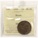 1899 Canada Large Cent ICCS MS60 Brown