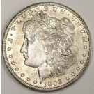 1902o Morgan silver dollar AU58