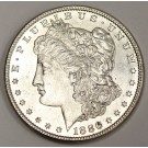 1886 Morgan silver dollar MS64